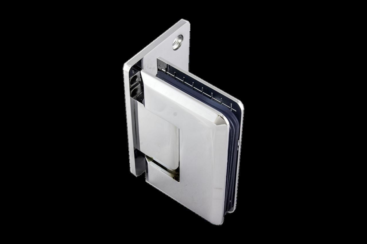 Петля для стеклянной двери с креплением к стене 90 градусов со смешением (стена-стекло)