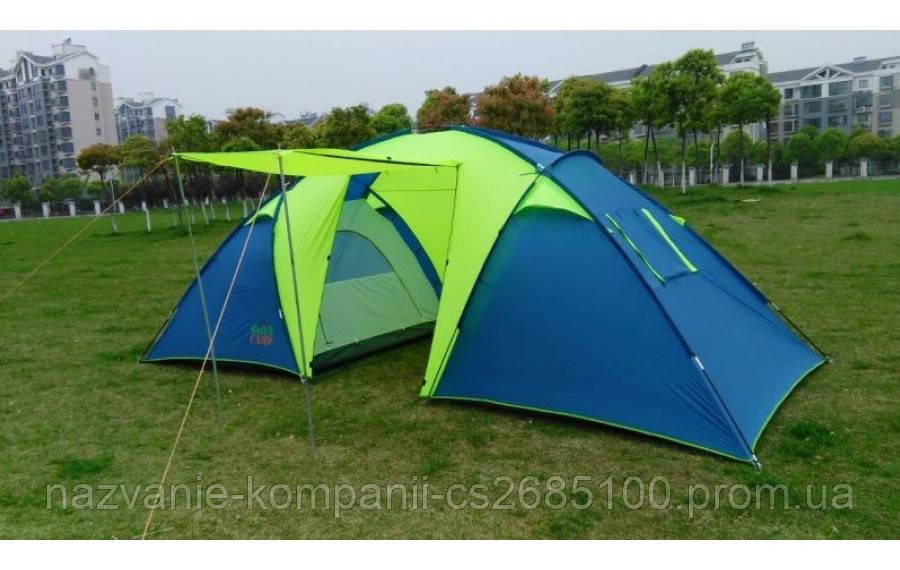 Палатка 6-ти местная GreenCamp 1002