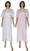Ночная рубашка женская трикотажная на пуговицах 03273 Klassika Pink/Violette коттон, р.р. 52-66