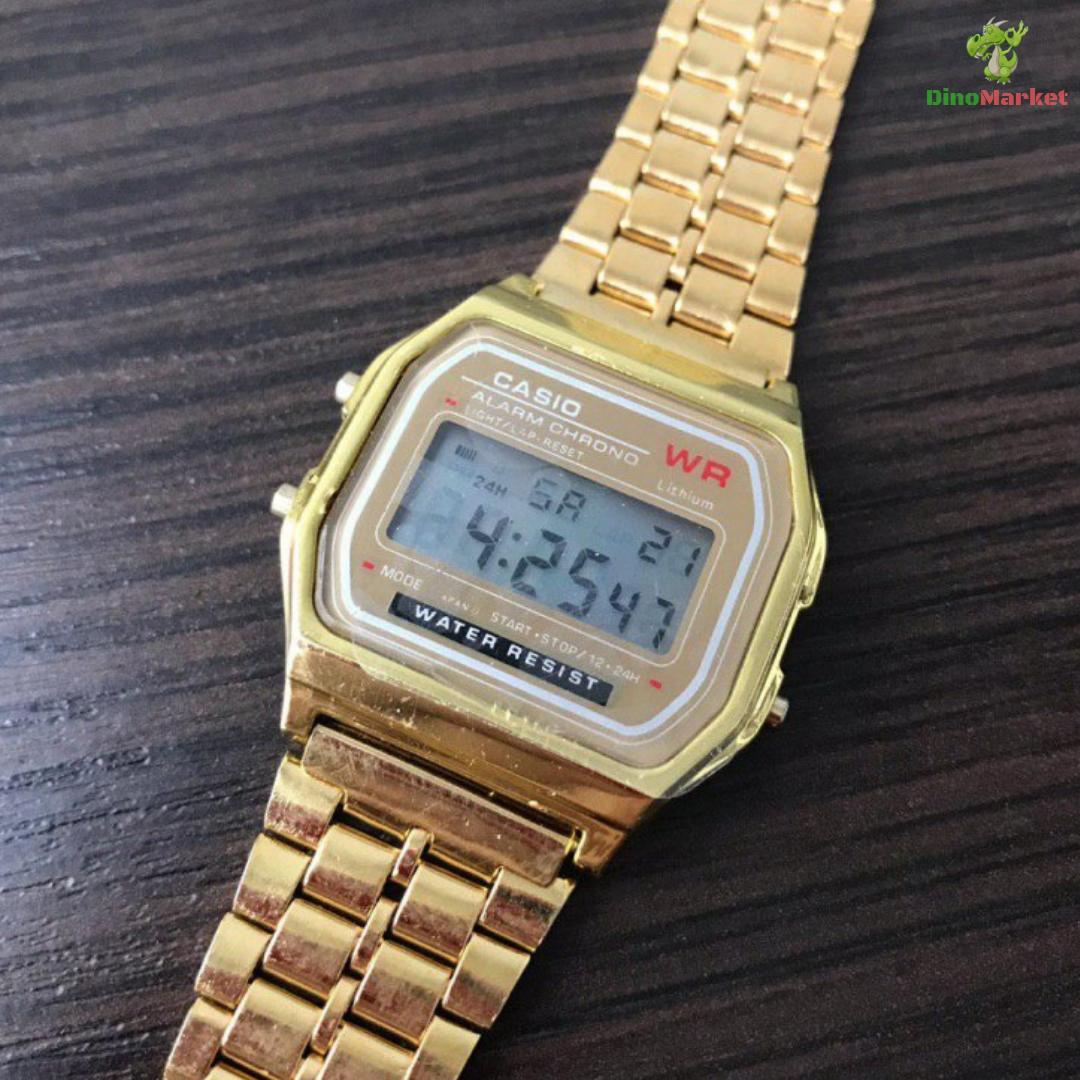 f5b6bafe Часы Наручные Электронные Casio Retro Gold — в Категории