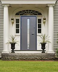 """Входные двери """"Стильные двери"""" серии Коттедж Графит+стеклопакет"""