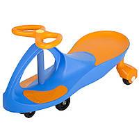 Детская машинка каталка Bibicar Бибикар, PlasmaCar, Smart Car, Детская инерционная машинка - Синий-Оранжевый