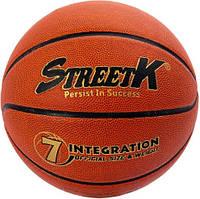 Мяч баскетбольный StreetK размер №7 (композитная кожа)
