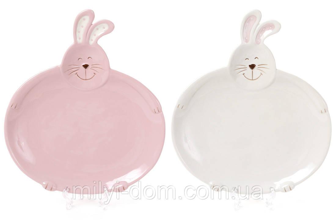 """Набор керамических тарелок """"Кролики"""", 20 см, 2 шт."""