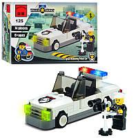 Конструктор BRICK 457798/125 поліцейська машинка, фігурка, 74 деталі, в коробці, 14-9,5-4,5 см