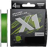 Шнур Favorite X1 PE 4x 150m (l.green) #1.2/0.185mm 20lb/9.5kg