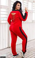 Костюм женский осенний большой,женский спортивный костюм больших размеров осенний ,спортивный костюм красный