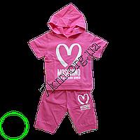 """Детский спортивный костюм летний """"MOSCHINO"""" для девочек 2-5 лет, Розовый,"""