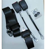 Ремни безопасности 3-х точечные неинерционные Konmaks, 2 штуки без болтов с заглушками