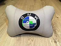 Подушка на подголовник BMW (немецкая эко-кожа)