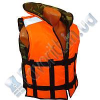 Жилет Адмирал двухсторонний - камуфляж+оранжевый