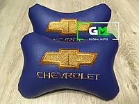 Подушка на подголовник CHEVROLET (немецкая эко-кожа)