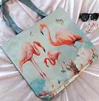 Эко сумка Фламинго, фото 1