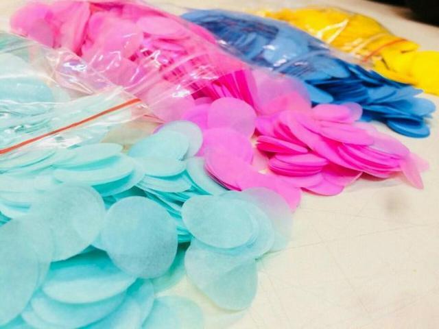 купить конфетти оптом и в розницу для воздушных шаров в Украине.