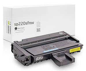 Совместимый картридж Ricoh SP 220sfnw (SP220SFNW), чёрный, увеличенный ресурс (2.600 копий) аналог Gravitone