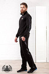 Мужской спортивный костюм черного цвета. Материал турецкая двух нитка-трикотаж. Размер 46-52