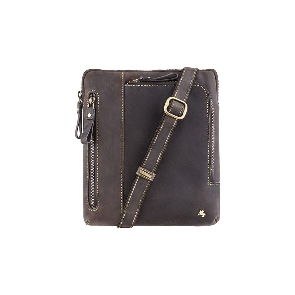 Мужская сумка через плечо Visconti 15056 Oil Brown (Великобритания)