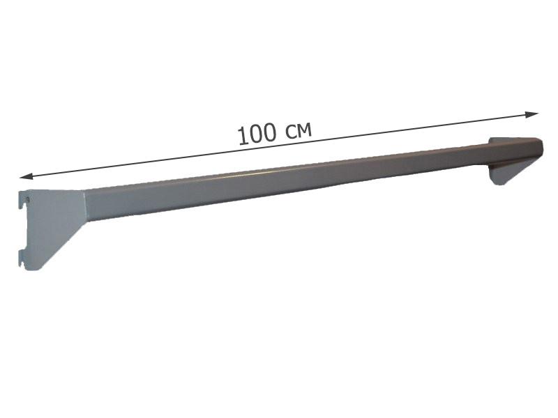 Перемычка овальная серая в перфопрофиль 100 см