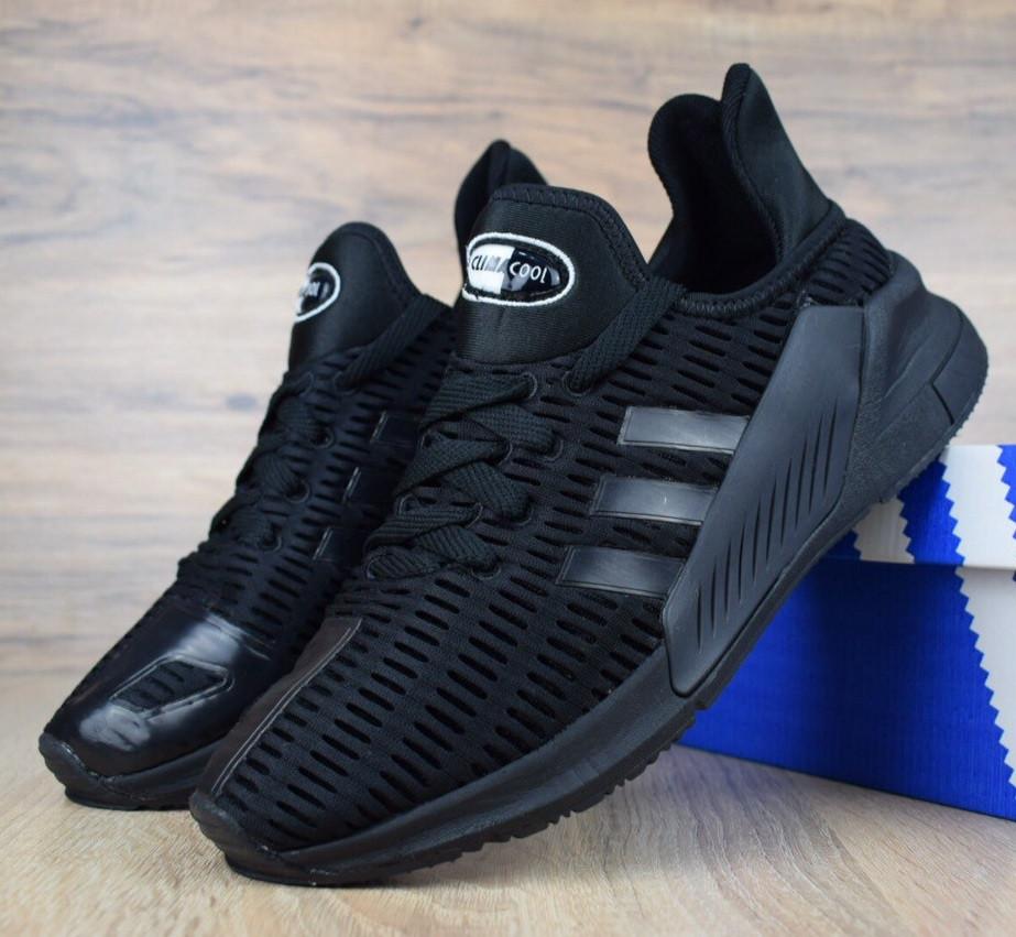 8a04e9324 Мужские кроссовки Adidas Climacool 02/17 черные полностью. Живое фото.  Реплика - Monkey