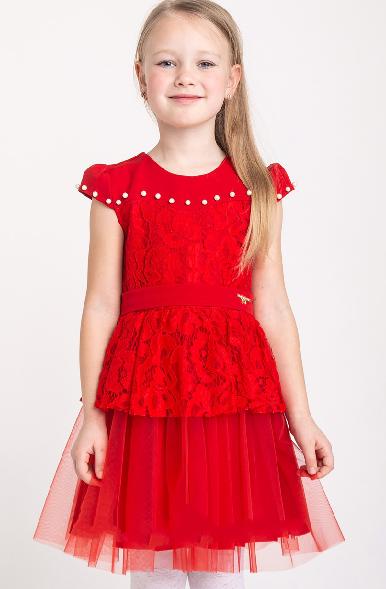 Детское платье с гипюровой встовкой