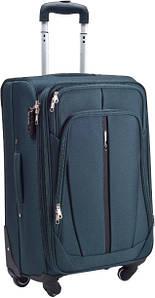 Тканевой чемодан Wings 1706 на 4 колеса, Польша, телескопическая ручка, металлический каркас