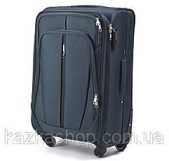 Тканевой чемодан Wings 1706 на 4 колеса, Польша, телескопическая ручка, металлический каркас, фото 3