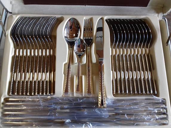 Великий набір столових приладів Bachmayer BM 7285 72 шт на 12 персон набір фраже в кейсі, фото 2
