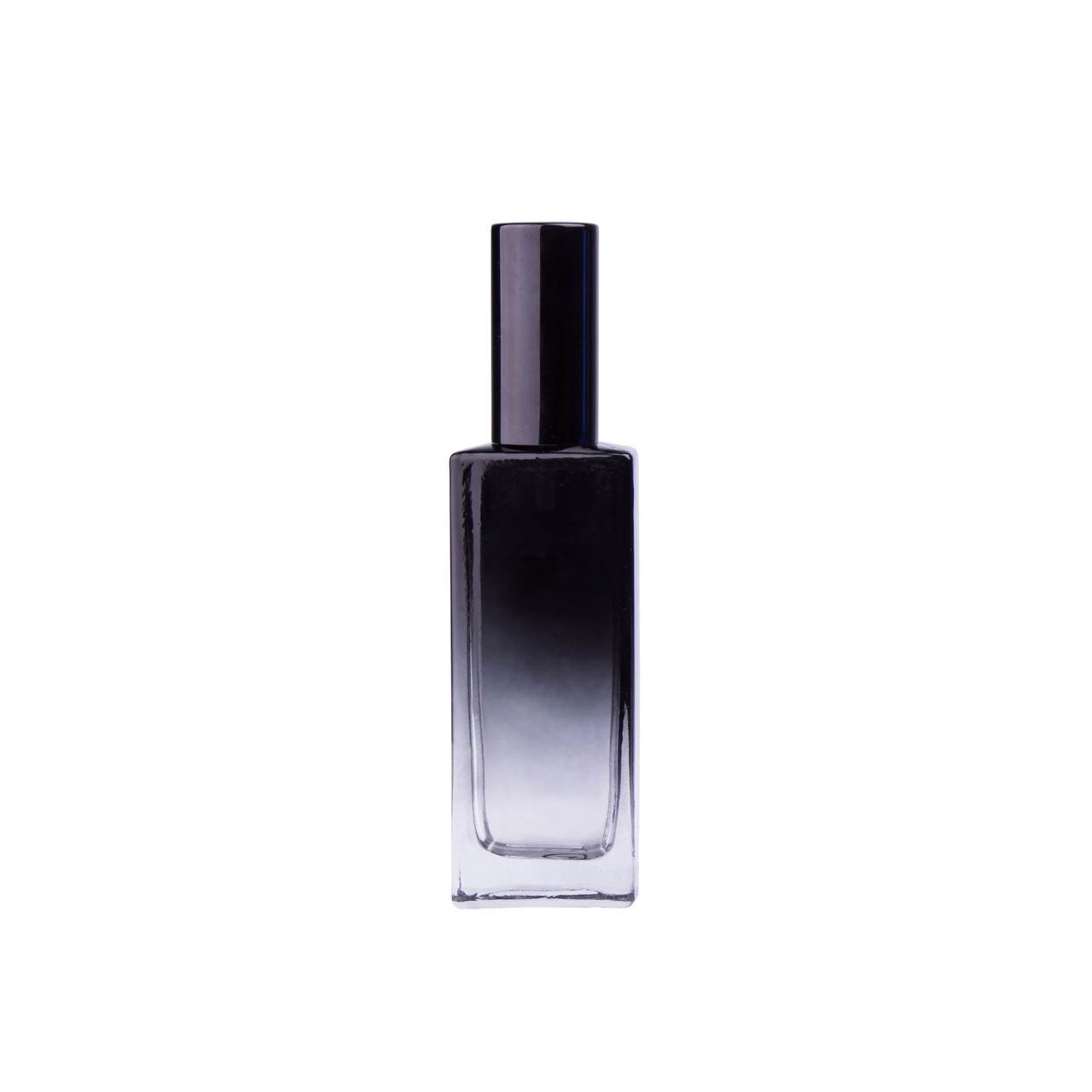 ЧЕРНЫЙ Флакон для парфюмерии БАККАРА 50 мл. с металлическим спреем ЧЕРНЫМ