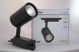 Светодиодный светильник трековый Feron AL102 COB 12W 4000K чёрный