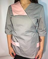 Топ женский медицинский на запах двухцветный Atteks - 03201