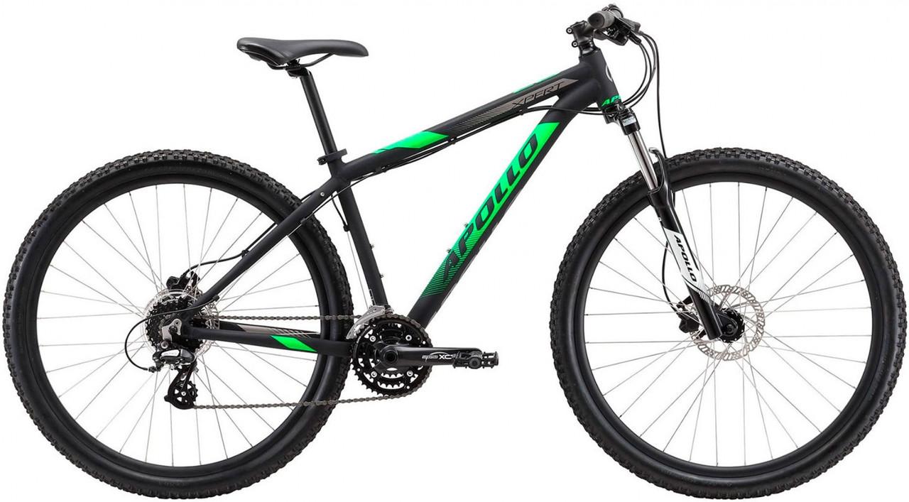 """Велосипед 29"""" Apollo XPERT 20 рама - X matte Black / neon Green / Black"""