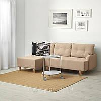 "IKEA ""BASTUBO"", Трехместный диван-кровать, с диваном, Шифтебу (Skiftebo) бежевый (404.366.70)"