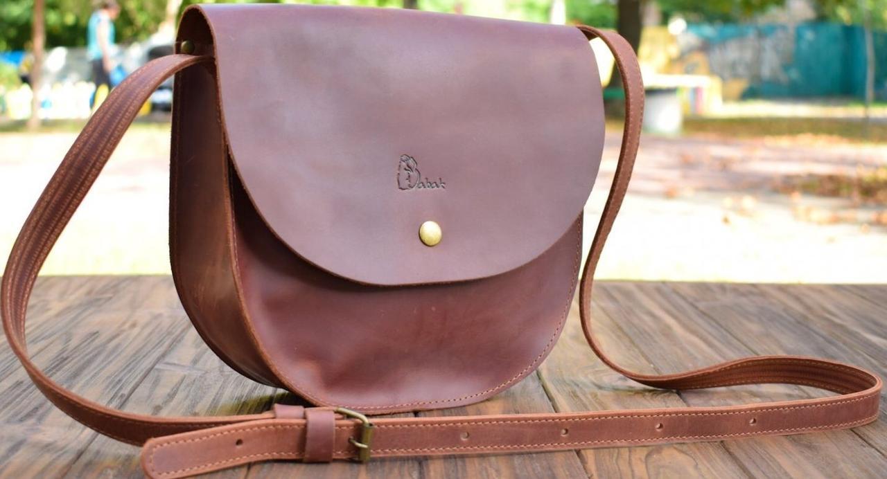 Женская сумка из натуральной кожи Babak 874065 коньяк