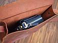 Женская сумка из натуральной кожи Babak 874065 коньяк , фото 3