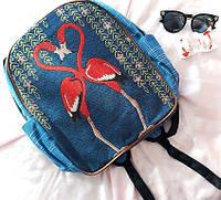 Рюкзак гобелен Фламинго, фото 1