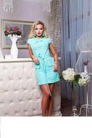 Красивое летнее платье из натуральной ткани Verona ментоловый, фото 1