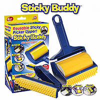 Набор липких валиков для уборки Sticky Buddy, цвет желтый