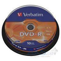 Диск Verbatim DVD-R  4.7Gb 16X CakeBox 10шт (43523)