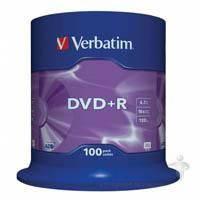 Диск Verbatim DVD+R 4.7Gb 16X CakeBox 100шт (43551)