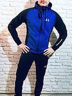 Спортивный костюм мужской, весенний, осенний в стиле Under Armour Black-Blue