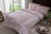 Постельное белье Tac сатин - Justin pembe v51 розовый евро