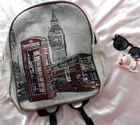 Рюкзак гобелен Город, фото 1