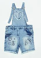Милый  джинсовый комбинезон с шортиками на 8-12.лет