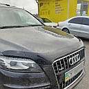 Дефлектор капота (мухобойка) на HIC Audi Q7 2006-2015, фото 4