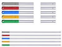 Універсальна алюмінієва рукоятка (кий) , матова, 140см. Сіра