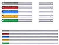 Універсальна алюмінієва рукоятка (кий) , матова, 140см. Червона