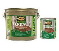 AURA TERRACE 9 л пропитка для деревянных поверхностей Серый