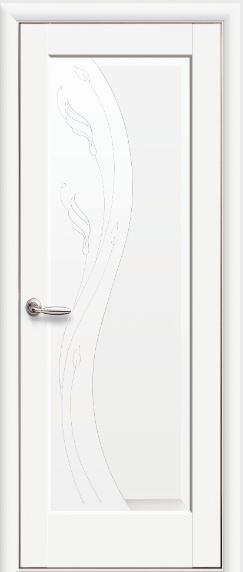 Міжкімнатні двері глухі білі Ескада ПВХ DELUX