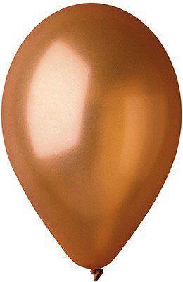 """Латексные шары круглые без рисунка 10"""" 25см Металлик коричневый """"GEMAR"""" Италия"""