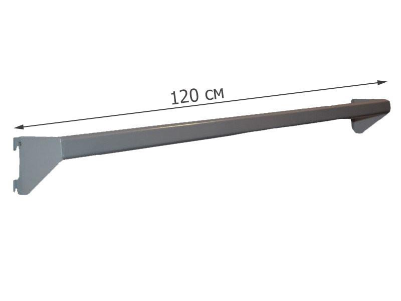 Перемичка овальна сіра в перфопрофиль 120 см